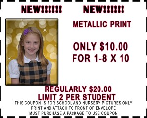metalic coupon 8x10