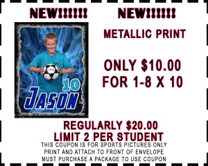 metalic coupon 8x10 Sports