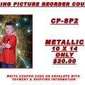 10 x 14 metallic coupon